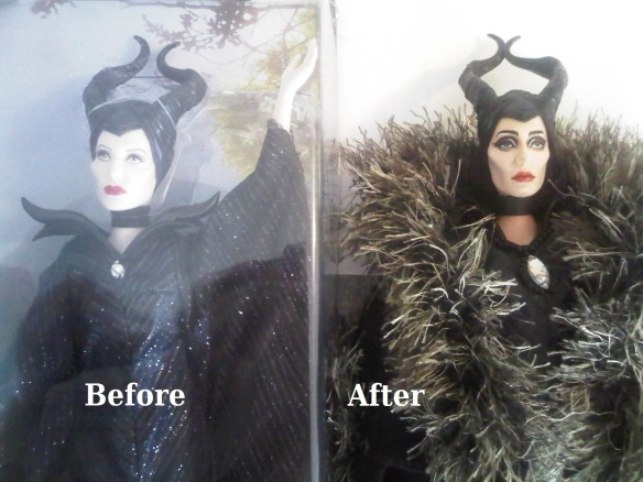 Maleficent - before and after 1